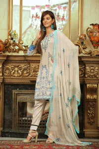 Embroidered Lawn 3 PC Ar#103