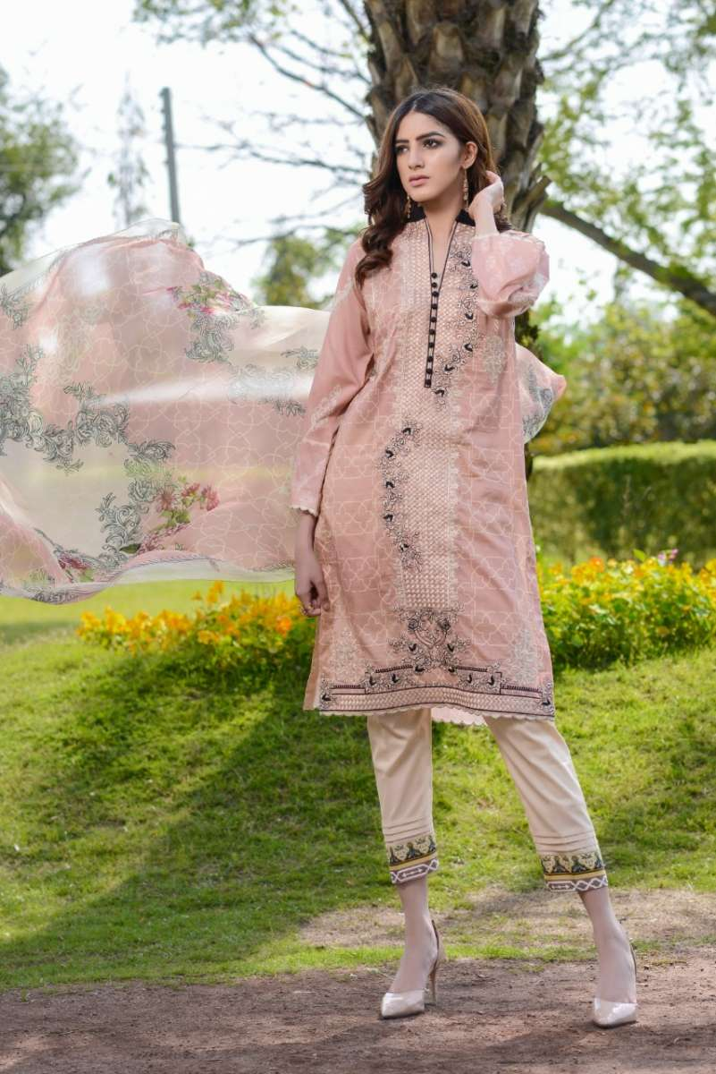 Luxury Emb Lawn Vol 1 3Piece Ar#204