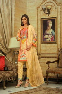 Embroidered Lawn 3 PC Ar#106