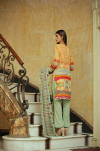 Embroidered Lawn 3 PC Ar#108