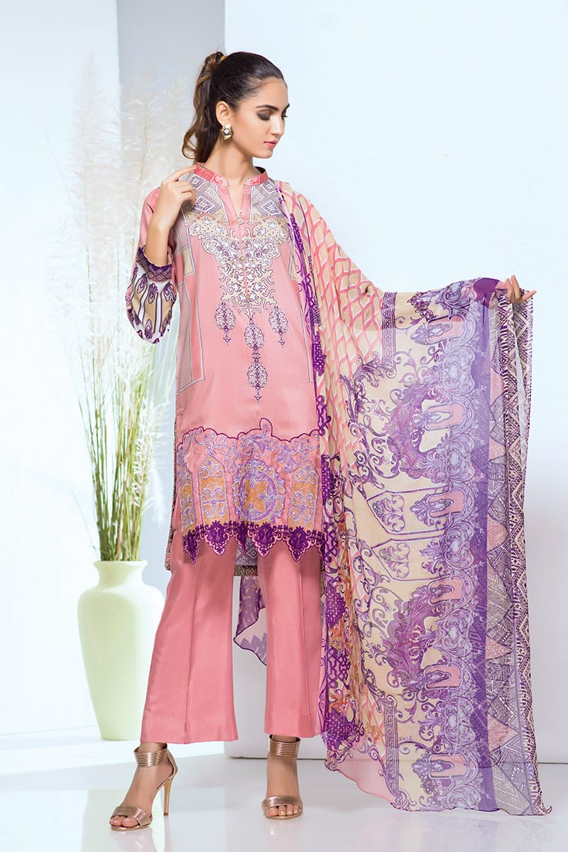 Viscos Embroidered 3PC