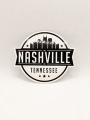 Nashville Skyline Stamp Sticker