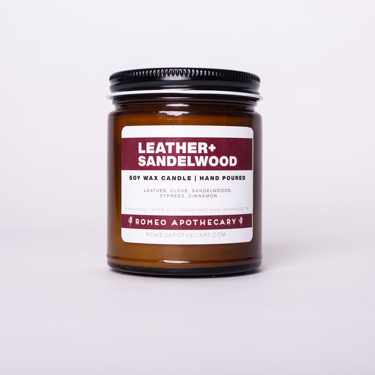 Leather Sandalwood Candle