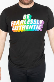 Be Fearlessly Authentic Tee - Rainbow Edition
