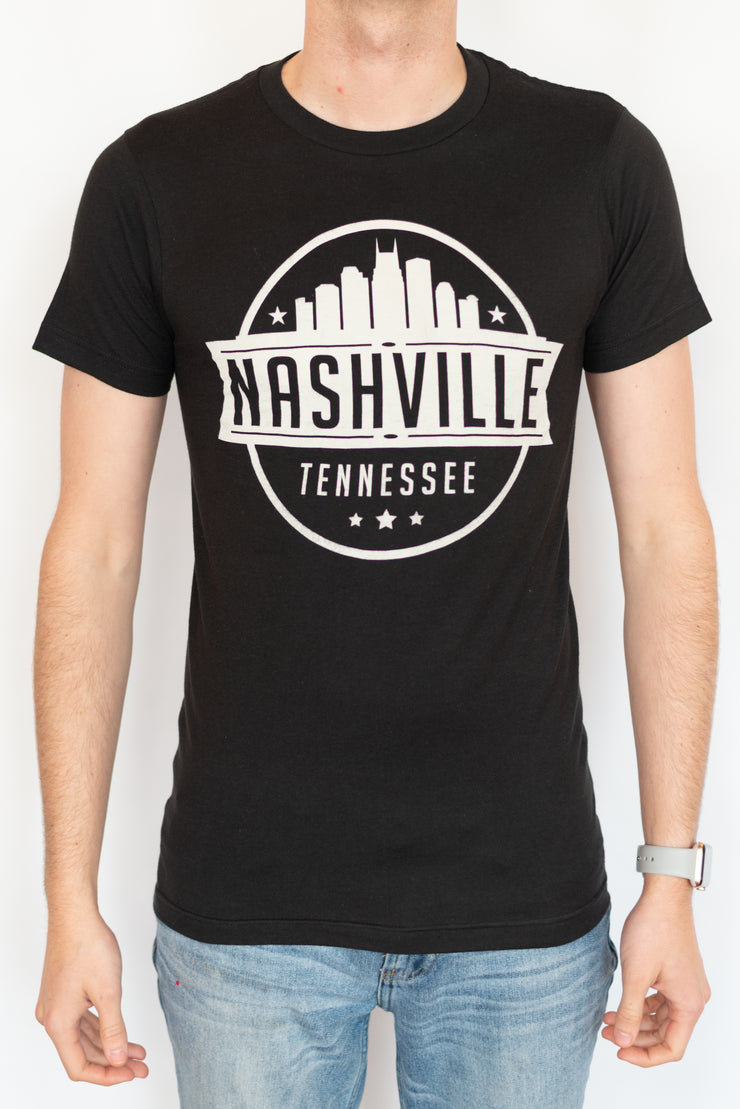 Nashville Skyline Stamp Tee