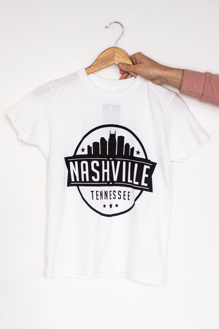Youth - Nashville Skyline Stamp Tee