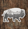 Buffalo Sticker Gray All Weather Made in the USA