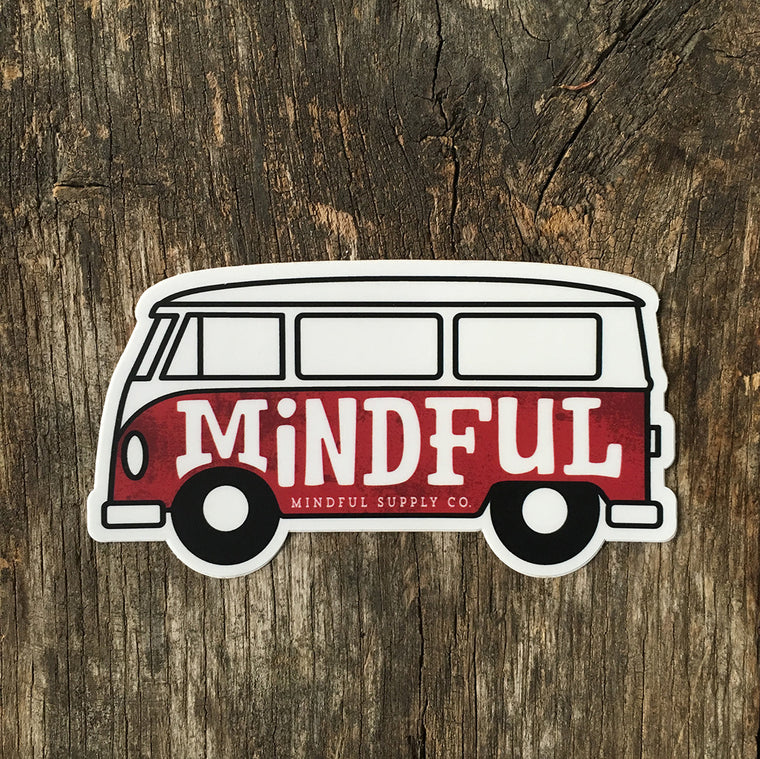 Mindful Bus All Weather Sticker