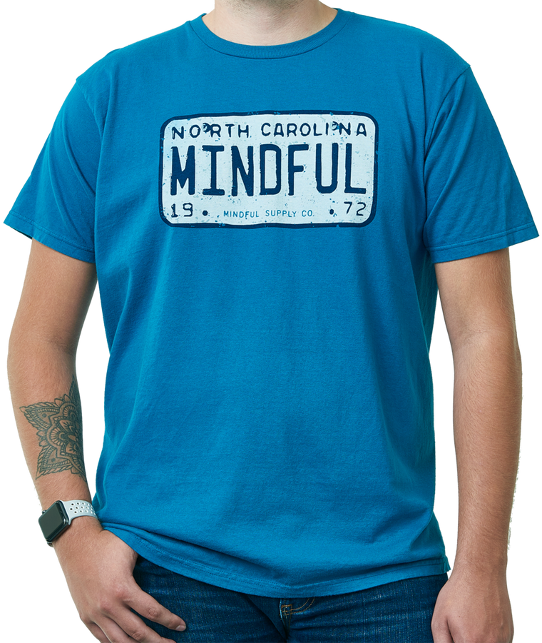 Mindful License Plate men's t-shirt