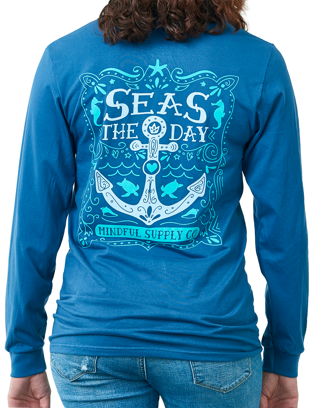 Seas The Day Longsleeve Unisex Pocket