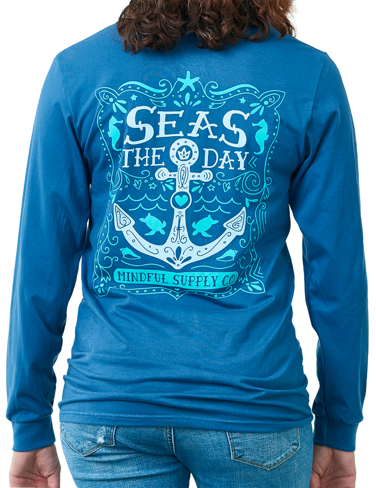 Seas The Day Long Sleeve Pocket T-shirt