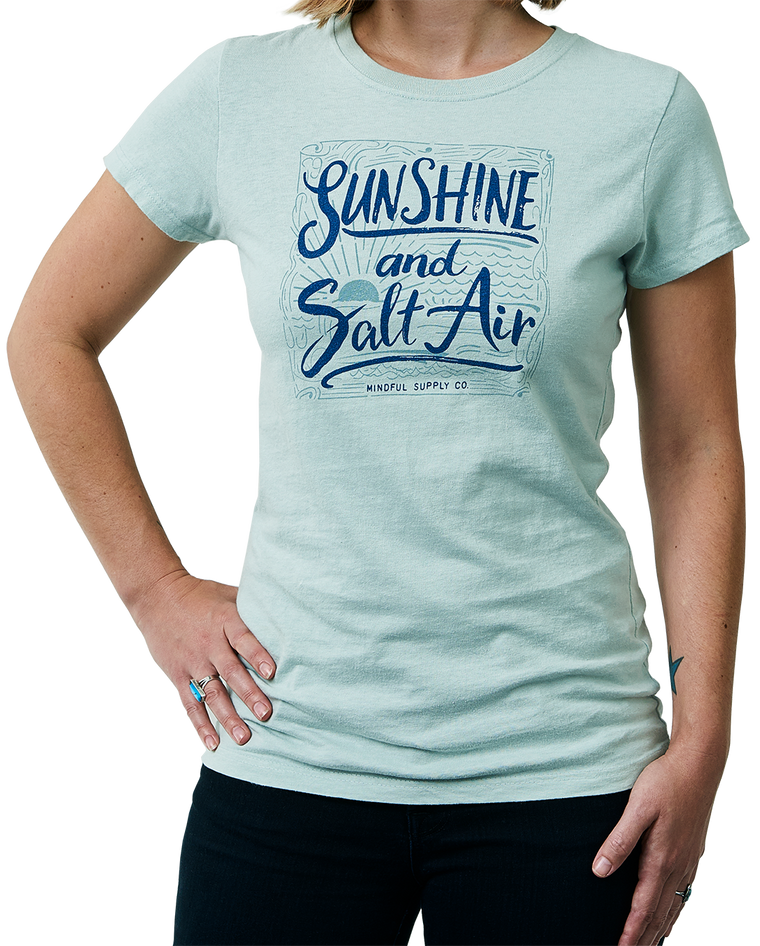 Sunshine and Salt Air women's t-shirt