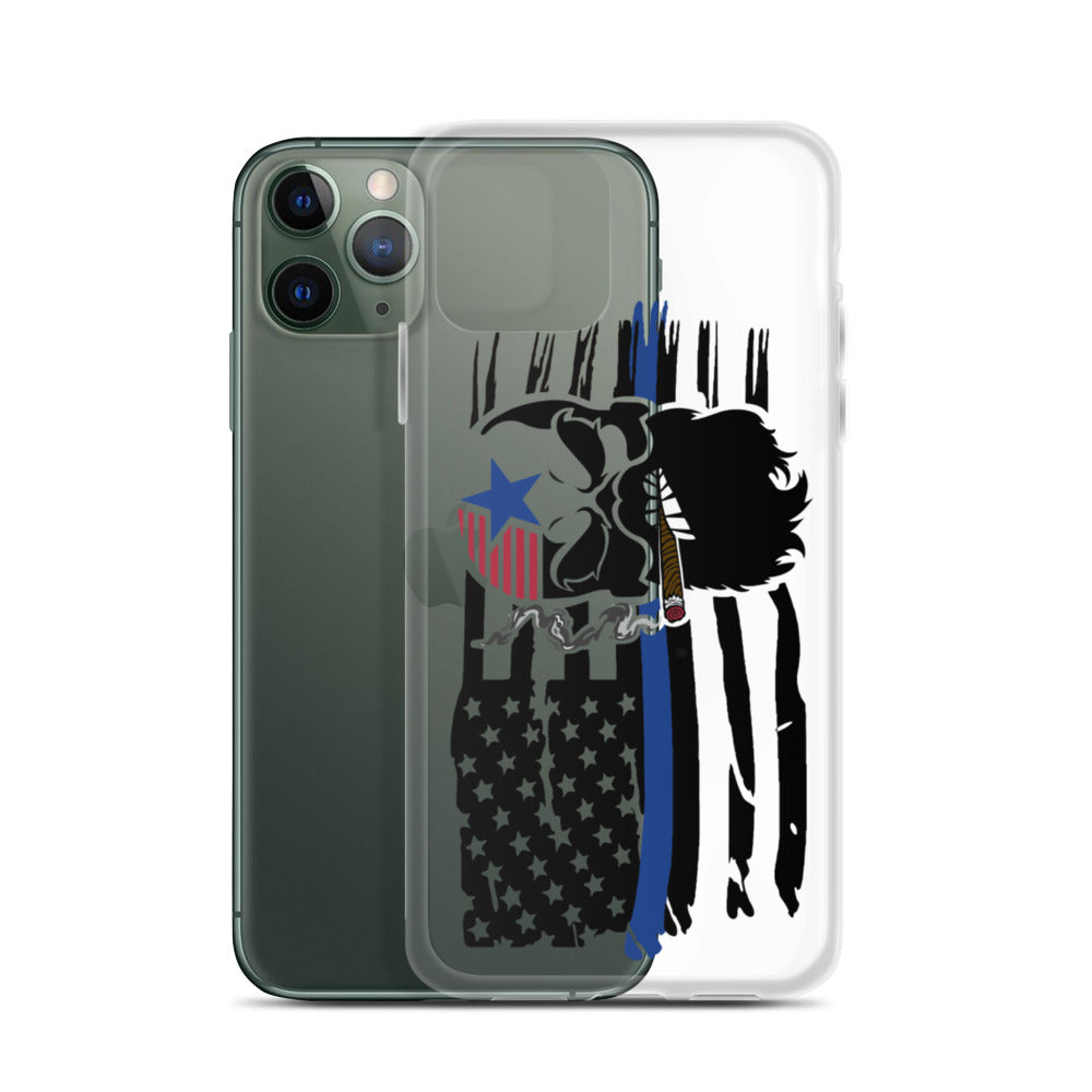 Blue Line iPhone Case