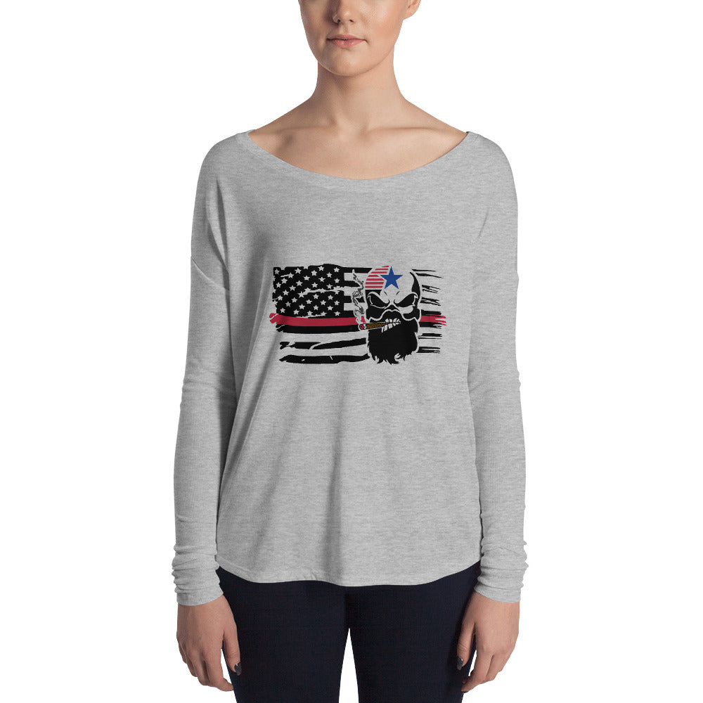 Flag Ladies' Long Sleeve Tee