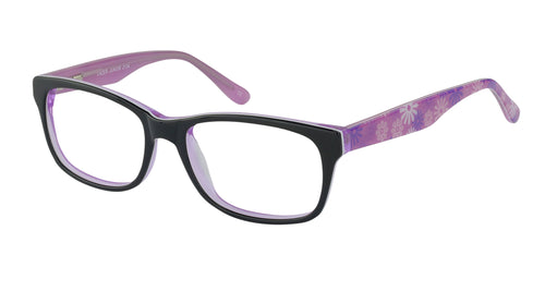 Lazer 2134 kids black pink glass frames