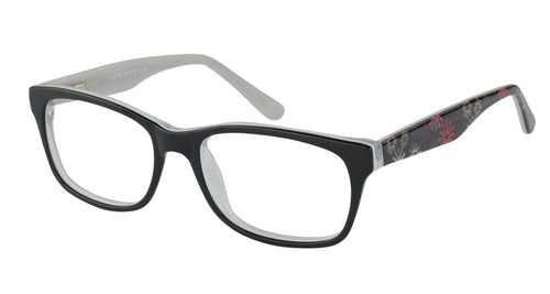 Lazer 2134 kids black red glass frames
