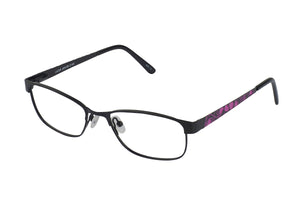 Lazer 2140 kids black purple glass frames