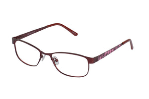 Lazer 2140 kids red pink glass frames
