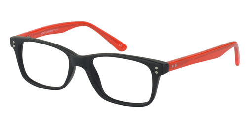 Lazer 2144 kids black red glass frames