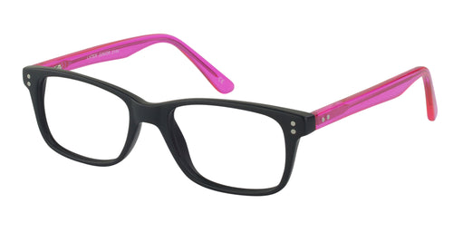 Lazer 2144 kids black pink glass frames