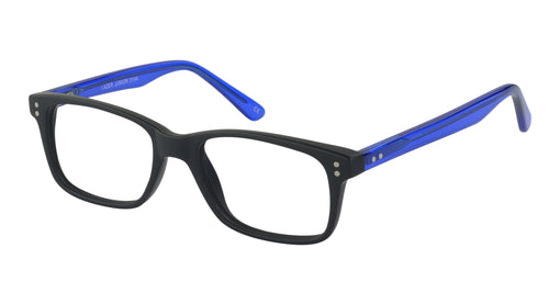 Lazer 2144 kids black blue glass frames