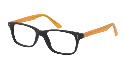 Lazer 2144 kids black orange glass frames
