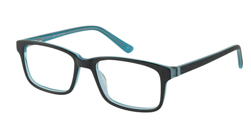 Lazer 2154 kids black blue glass frames