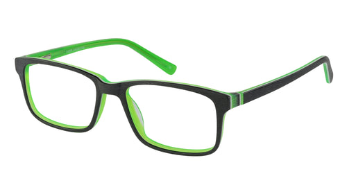 Lazer 2154 kids black green glass frames