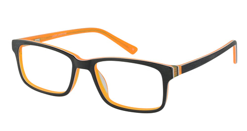 Lazer 2154 kids black orange glass frames