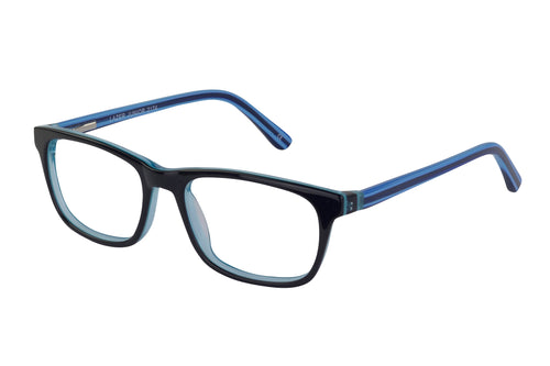 Lazer 2174 kids black blue glass frames