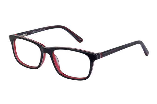 Lazer 2174 kids black red glass frames