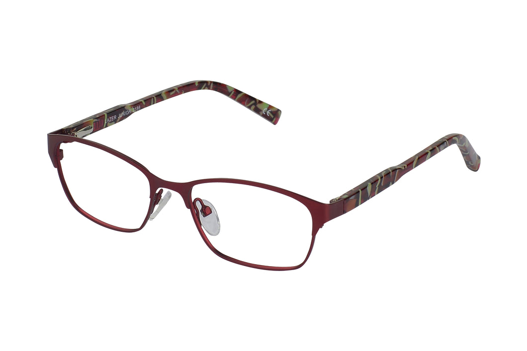 Lazer 2186 kids burgundy glass frames