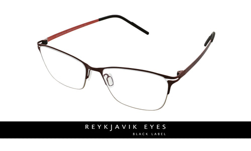 Reykjavik Ally womens red gold glass frames