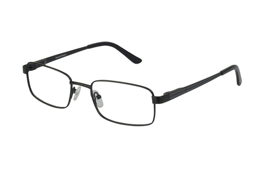 Titanium Arrow men's black glass frames