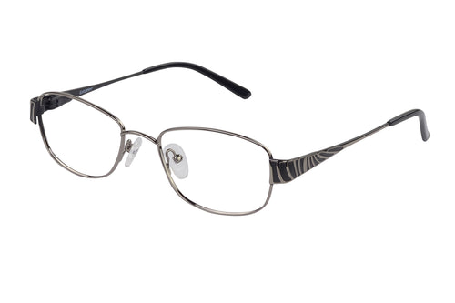 Eyecraft Avoca womens silver black glass frames