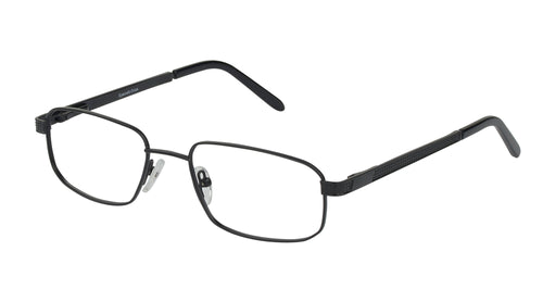 Eyecraft Bathurst men's black glass frames