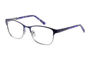 Eyecraft Bernice womens blue silver glass frames