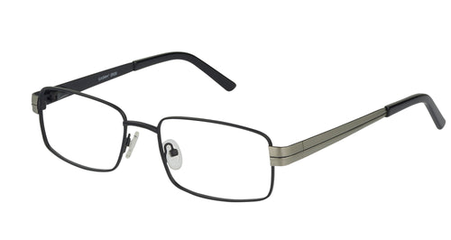 Eyecraft Brasher men's black glass frames