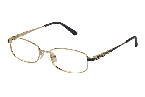 Titanium Breeze womens gold black glass frames