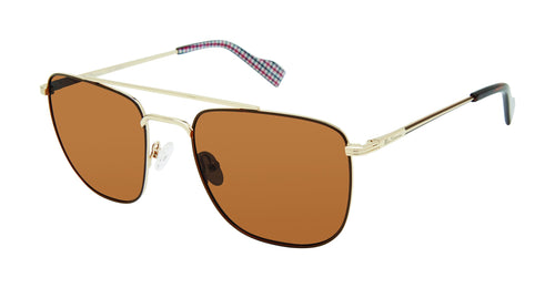 Ben Sherman Barking men's gold sunglass frames