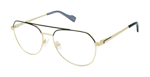 Ben Sherman Denmark men's black gold glass frames