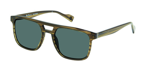 Ben Sherman Grange men's green grain sunglass frames