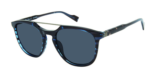 Ben Sherman Queensway men's blue stripe sunglass frames