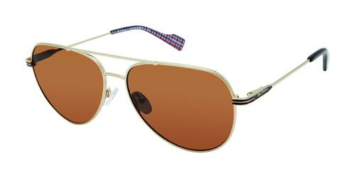 Ben Sherman Shaftsbury men's gold sunglass frames