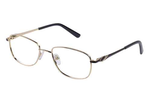 Eyecraft Carla womens gold black glass frames