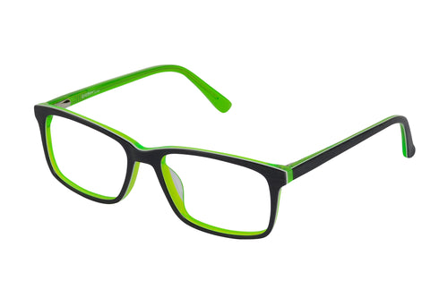 Eyecraft Clang kids black green glass frames
