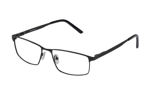 Titanium Dakota men's black glass frames
