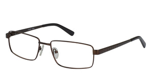 Eyecraft Ernest men's brown glass frames