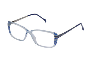 Eyecraft Estelle womens blue glass frames