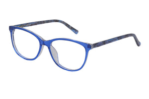 Eyecraft Jocelyn womens blue glass frames